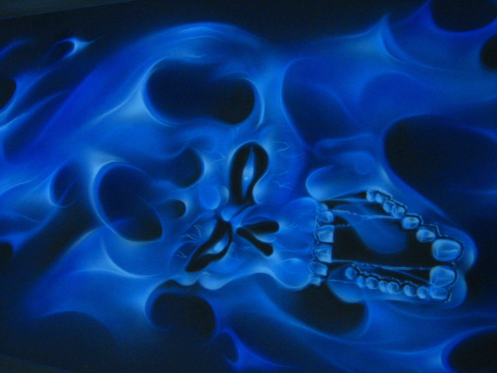 blue flames skull flame - photo #16
